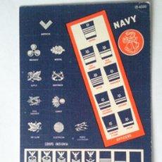 Postales - POSTAL AMERICANA, AYUDA AL RECONOCIMIENTO DE INSIGNIAS, 1945 - 31883561