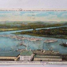 Cartes Postales: POSTA MILITAR, ENTRADA DEL PACIFICO AL CANAL DE PANMA, 1929. Lote 31914968