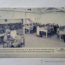 Postales: POSTAL MILITAR, GIROSCOPIO, DEPARTAMENTO DE INSTRUMENTOS, FUERZA AEREA EDUCACION TECNICA. Lote 31915345