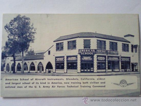 POSTAL MILITAR, ESCUELA AMERICANA DE INSTRUMENTOS DE AVIACION (Postales - Postales Temáticas - II Guerra Mundial y División Azul)