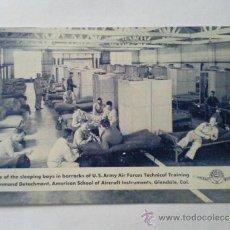 Postales: POSTAL MILITAR, ESCUELA AMERICANA DE INSTRUMENTOS DE AVIACION, EN EL BARRACON. Lote 31915437