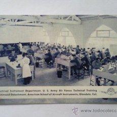 Postales: POSTAL MILITAR, DEPARTAMENTO INSTRUMENTOS ELECTRICOS, EDUCACION TECNICA, FUERZAS AEREAS. Lote 31915450