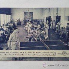 Postales: POSTAL MILITAR, ESCUELA AMERICANA DE INSTRUMENTOS DE AVIACION, ZONA DE OCIO. Lote 31915480
