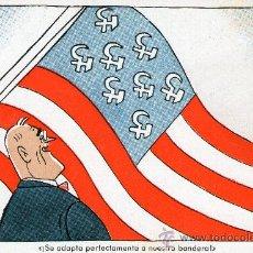 Postales: LOTE 5 POSTALES SEGUNDA GUERRA MUNDIAL 1941 SATIRA DE LA POLITICA ALIADA CARICATURA DE PERSONAJES. Lote 31967208
