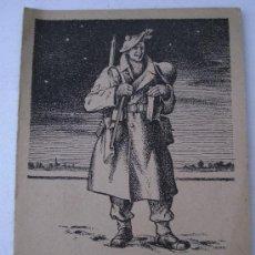 Postales: TARJETA NAVIDEÑA DE SOLDADO DEL EJERCITO BRITANICO 1944 - 2ª GUERRA MUNDIAL (ESCRITA, 11X14CM APROX). Lote 35404448