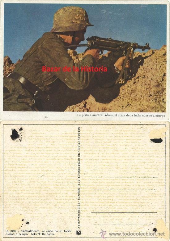 Postales: 52 POSTALES MILITARES PROPAGANDA ALEMANA EN COLOR - SERIE COMPLETA 1944 III REICH II GM - Foto 3 - 35672990