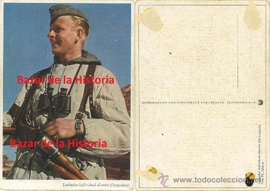 Postales: 52 POSTALES MILITARES PROPAGANDA ALEMANA EN COLOR - SERIE COMPLETA 1944 III REICH II GM - Foto 4 - 35672990