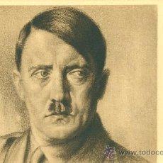 Postales: HITLER. POSTAL CON DIBUJO DEL PERSONAJE. EDITADA POR FALANGE DE LAS FET DE LAS JONS. C. 1945. Lote 36066500