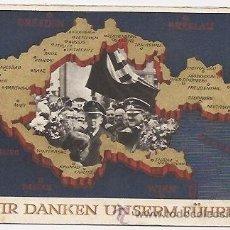 Postales: ALEMANIA: POSTAL ORIGINAL DE LA ÉPOCA . ANEXIÓN DE LOS SUDETES. HITLER. 1938. Lote 37823942