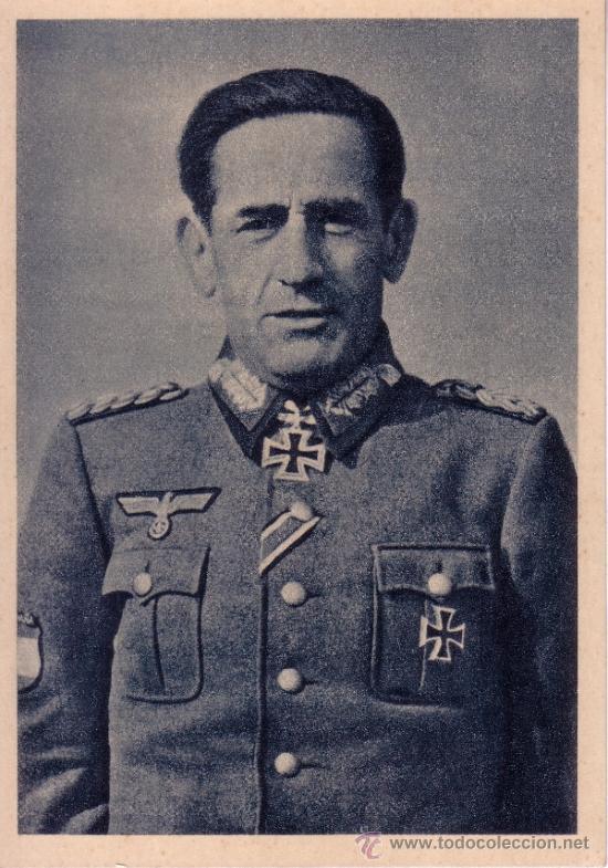 POSTAL DIVISION AZUL - TENIENTE GENERAL MUÑOZ GRANDES - HEROICO Y VICTORIOSO COMANDANTE DIVISION (Postales - Postales Temáticas - II Guerra Mundial y División Azul)