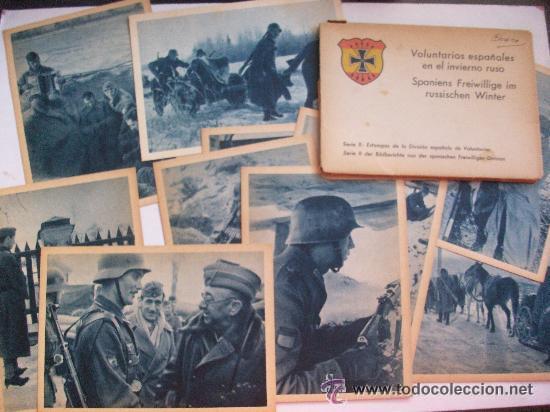 LOTE DE 10 POSTALES DE LA DIVISION AZUL Y SU CARPETILLA. . (Postales - Postales Temáticas - II Guerra Mundial y División Azul)
