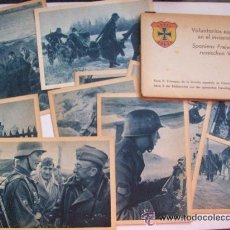 Postales: LOTE DE 10 POSTALES DE LA DIVISION AZUL Y SU CARPETILLA. .. Lote 38073531