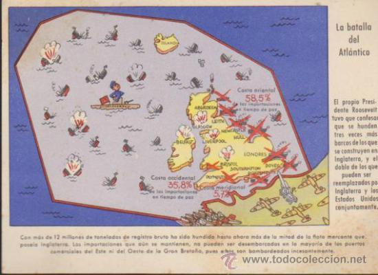 LA BATALLA DEL ATLÁNTICO. POSTAL DE PROPAGANDA ALEMANA. (Postales - Postales Temáticas - II Guerra Mundial y División Azul)