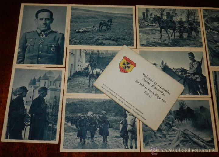 CARTERA DE CARTONCILLO VOLUNTARIOS ESPAÑOLES FRENTE AL ENEMIGO (SPANIENS FREIWILLIGE AM FEIND), SERI (Postales - Postales Temáticas - II Guerra Mundial y División Azul)
