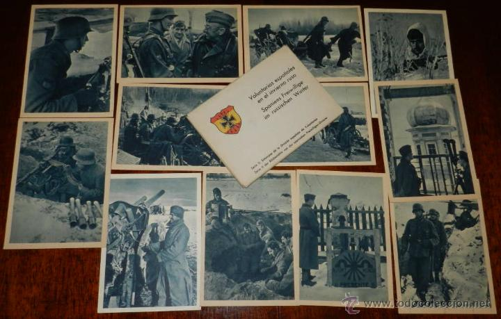 CARTERA DE CARTONCILLO VOLUNTARIOS ESPAÑOLES EN EL INVIERNO RUSO (SPANIENS FREIWILLIGE IM RUSSISCHEN (Postales - Postales Temáticas - II Guerra Mundial y División Azul)