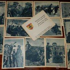 Postales: CARTERA DE CARTONCILLO VOLUNTARIOS ESPAÑOLES EN EL INVIERNO RUSO (SPANIENS FREIWILLIGE IM RUSSISCHEN. Lote 38286216