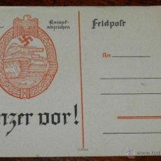 Postales: ANTIGUA POSTAL PANZERKAMPF ABZEICHEN, C/1550, SIN CICULAR, ALEMANIA. ORIGINAL.. Lote 38286889