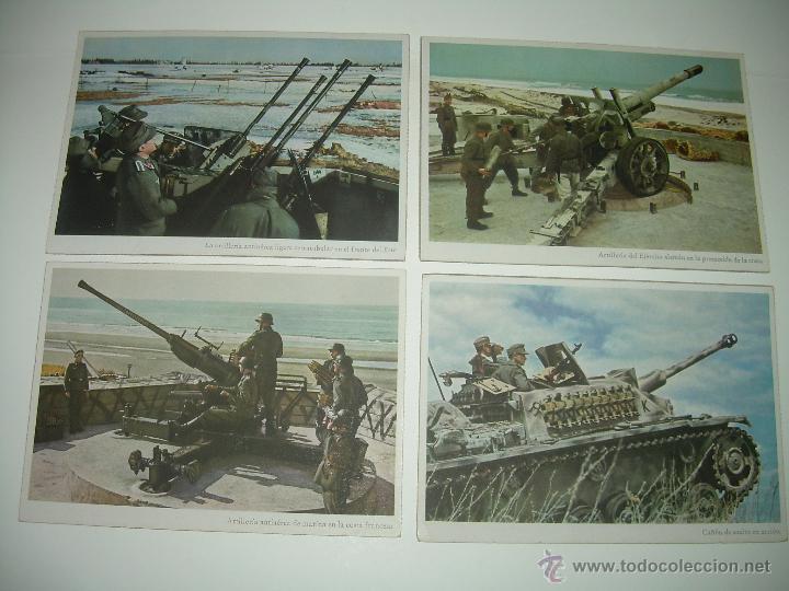 LOTE DE CUATRO POSTALES. (Postales - Postales Temáticas - II Guerra Mundial y División Azul)