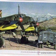 Postales: AVIACIÓN DE BOMBEROS Y STUKAS ALEMANES JU 88 TOMANDO ESENCIA. FOTO OTTAHALL. SIN CIRCULAR.. Lote 42618041