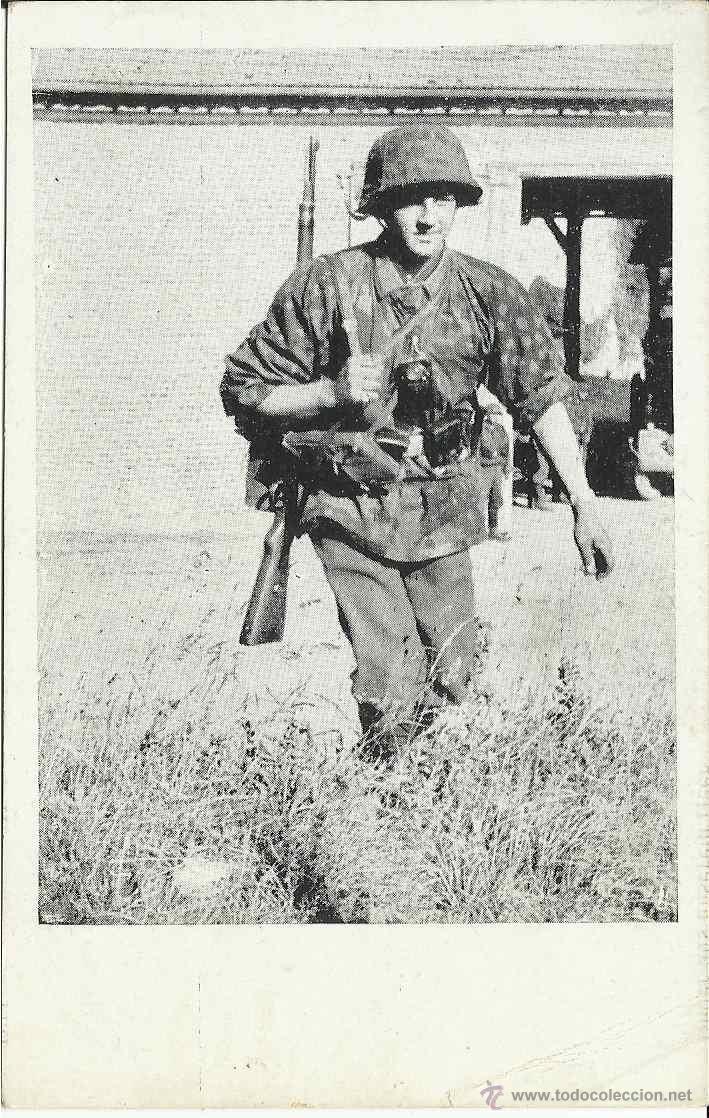 POSTAL EJÉRCITO ALEMÁN,III REICH,SIN CIRCULAR,DIVISIÓN AZUL,SIN CIRCULAR,ORIGINAL,BUEN ESTADO (Postales - Postales Temáticas - II Guerra Mundial y División Azul)