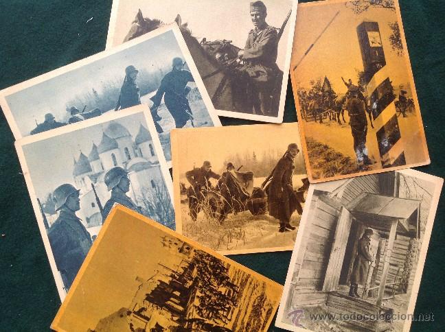 LOTE DE 8 POSTALES DE LA DIVISIÓN AZUL (Postales - Postales Temáticas - II Guerra Mundial y División Azul)