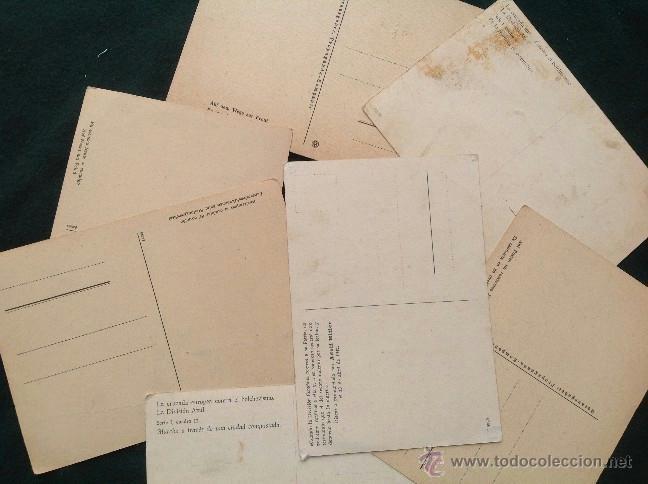 Postales: Lote de 8 postales de la División Azul - Foto 2 - 43223581