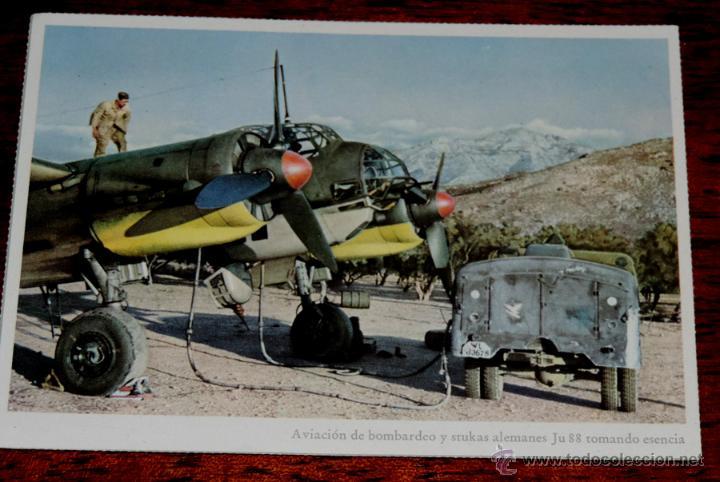 ANTIGUA POSTAL II GUERRA MUNDIAL, AVIACION DE BOMBARDEO Y STUKAS ALEMANES JUNKERS JU 88, PUBLICIDAD (Postales - Postales Temáticas - II Guerra Mundial y División Azul)