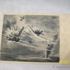 Postales: POSTAL AVION DE BOMBARDEO INGLES ALCANZADO POR EL FUEGO.. Lote 45051998