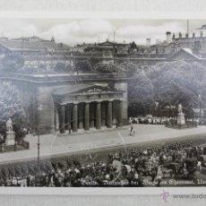Postales: P- 14. POSTAL FOTOGRAFICA ORIGINAL ALEMANIA BERLIN EHRENMAL DESFILE MILITAR EPOCA III REICH 1941. Lote 46347473