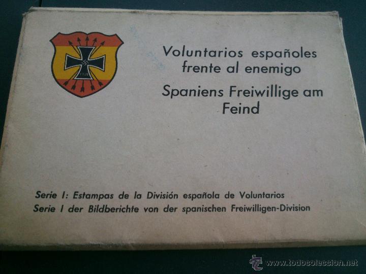 POSTALES CARTERA DE CARTONCILLO VOLUNTARIOS ESPAÑOLES FRENTE AL ENEMIGO. DIVISIÓN AZUL (Postales - Postales Temáticas - II Guerra Mundial y División Azul)