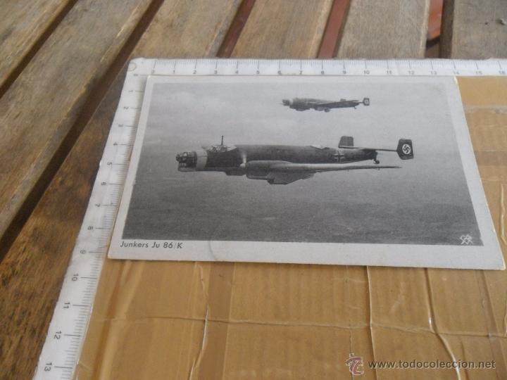 TARJETA POSTAL AVION ALEMAN II GUERRA MUNDIAL (Postales - Postales Temáticas - II Guerra Mundial y División Azul)