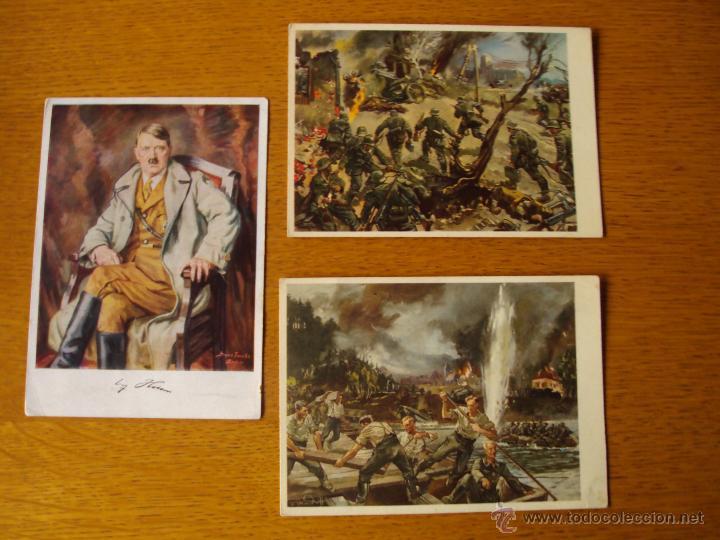 LOTE POSTALES ALEMANAS NAZIS, SEGUNDA GUERRA MUNDIAL (Postales - Postales Temáticas - II Guerra Mundial y División Azul)