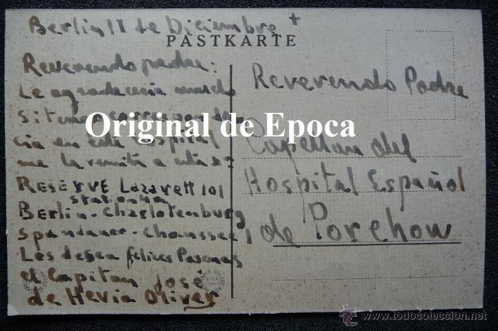 (JX-2239)POSTAL ENVIADA AL CAPELLAN 1º,DIVISION AZUL D.JOSE Mª.VIVES,POR EL CAPITAN D.JOSE DE HEVIA (Postales - Postales Temáticas - II Guerra Mundial y División Azul)