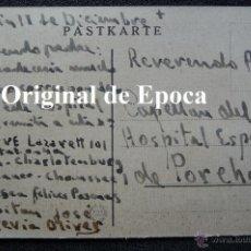 Postales: (JX-2239)POSTAL ENVIADA AL CAPELLAN 1º,DIVISION AZUL D.JOSE Mª.VIVES,POR EL CAPITAN D.JOSE DE HEVIA. Lote 48160049