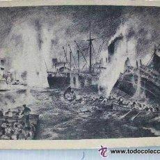 Postales: POSTAL ALEMANA : SUBMARINOS ALEMANES ATACANDO A UN CONVOY ALIADO. RECUERDO DIVISION AZUL ... Lote 48362209