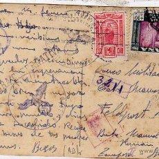 Postales: TARJETA POSTAL DE OVIEDO. ENVIADA POR UN VOLUNTARIO DE LA DIVISIÓN AZUL, 1943, FELDPOST.. Lote 48398341