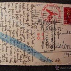 Postales: (JX-2344)TARJETA POSTAL ENVIADA DESDE SUIZA A BARCELONA,CENSURAS NAZIS,1944,2ªGUERRA MUNDIAL. Lote 48979387