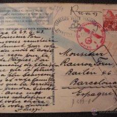 Postales: (JX-2354)TARJETA POSTAL ENVIADA DESDE SUIZA A BARCELONA,CENSURAS NAZIS,1943,2ªGUERRA MUNDIAL. Lote 49013812