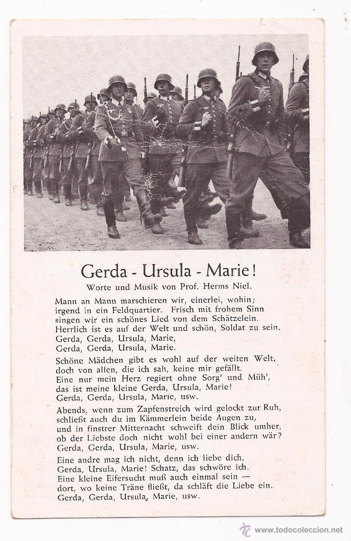 POSTAL GERDA - URSULA - MARIE ! / CANCIÓN / SPEZIAL VERLAG FRANKE, HAMBURG / ORIGINAL DE LA ÉPOCA / (Postales - Postales Temáticas - II Guerra Mundial y División Azul)