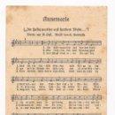 Postales: POSTAL ANNEMARIE / CANCIÓN / SPEZIAL VERLAG FRANKE, HAMBURG / ORIGINAL DE LA ÉPOCA / SIN USAR. Lote 50772284