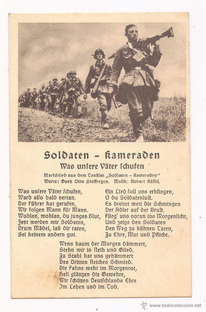 POSTAL SOLDATEN - KAMERADEN / CANCIÓN / SPEZIAL VERLAG FRANKE, HAMBURG / ORIGINAL DE LA ÉPOCA (Postales - Postales Temáticas - II Guerra Mundial y División Azul)