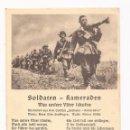 Postales: POSTAL SOLDATEN - KAMERADEN / CANCIÓN / SPEZIAL VERLAG FRANKE, HAMBURG / ORIGINAL DE LA ÉPOCA. Lote 50772744