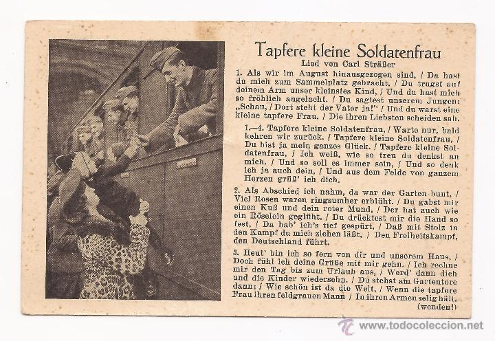 POSTAL TAPFERE KLEINE SOLDATENFRAU / SPEZIAL VERLAG FRANKE, HAMBURG / ORIGINAL DE LA ÉPOC (Postales - Postales Temáticas - II Guerra Mundial y División Azul)