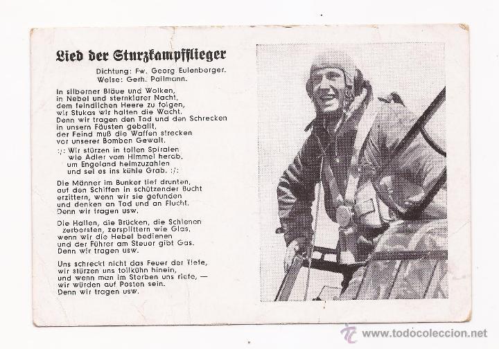 POSTAL LIEB BER GTURZTAMPFFLIEGER / SPEZIAL VERLAG FRANKE, HAMBURG / ORIGINAL DE LA ÉPOCA / SIN USAR (Postales - Postales Temáticas - II Guerra Mundial y División Azul)