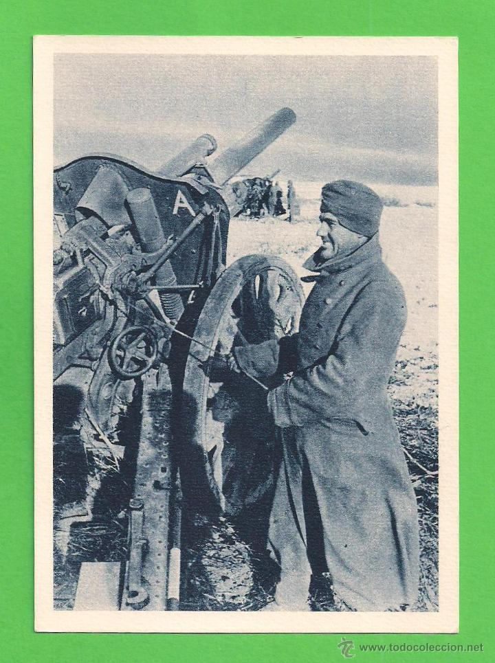 POSTAL - DIVISIÓN AZUL - ''ATENCIÓN - FUEGO'' - SIN CIRCULAR. (Postales - Postales Temáticas - II Guerra Mundial y División Azul)