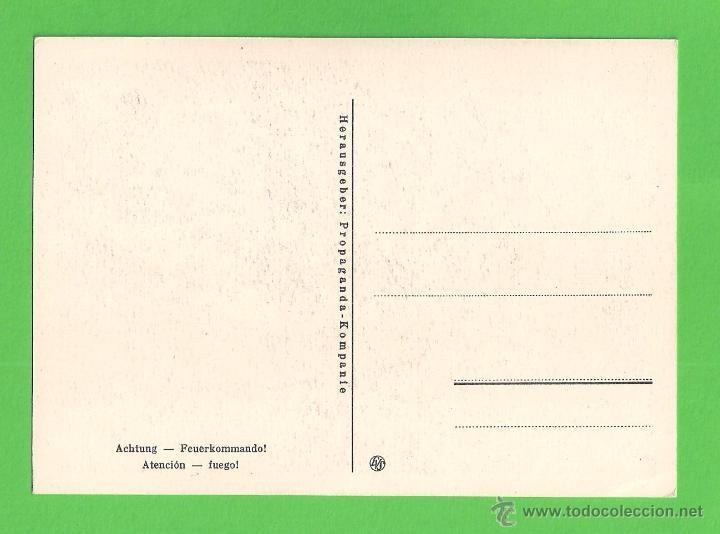 Postales: POSTAL - DIVISIÓN AZUL - ''ATENCIÓN - FUEGO'' - SIN CIRCULAR. - Foto 2 - 51374761