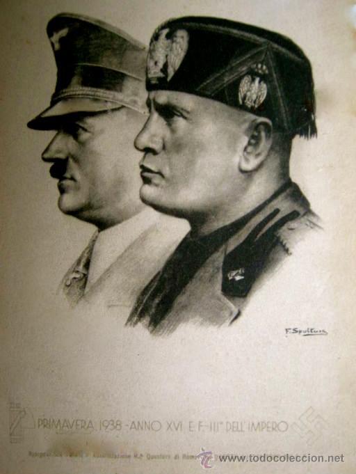 RARA POSTAL DE HITLER Y MUSSOLINI. PRIMAVERA 1938. (Postales - Postales Temáticas - II Guerra Mundial y División Azul)