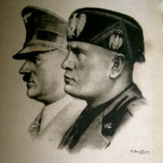 Postales: RARA POSTAL DE HITLER Y MUSSOLINI. PRIMAVERA 1938.. Lote 52326104