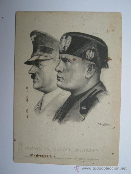 Postales: RARA POSTAL DE HITLER Y MUSSOLINI. PRIMAVERA 1938. - Foto 2 - 52326104