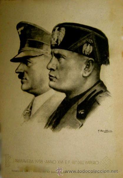 Postales: RARA POSTAL DE HITLER Y MUSSOLINI. PRIMAVERA 1938. - Foto 3 - 52326104